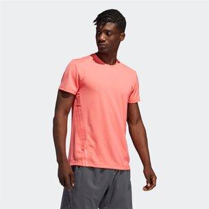 adidas Aero 3 Stripe T-Shirt Mens