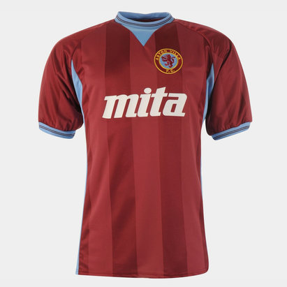 Score Draw Aston Villa 1984 Home S/S Retro Football Shirt