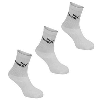 Puma 3 Pack Crew Socks Junior