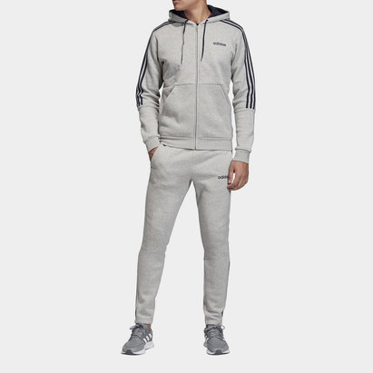 adidas Mens Full Zip 3 Stripes Tracksuit