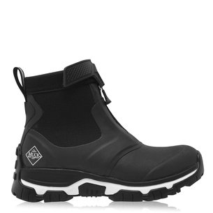 Muck Boot Ladies Apex Zip Short Boots - Black/White