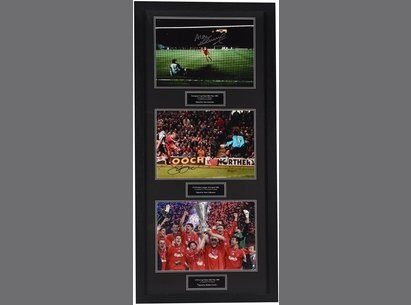 Liverpool Hand Signed Treble Display Frame