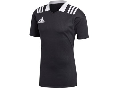 adidas 3 Stripes Fitted Men's Rugby Shirt