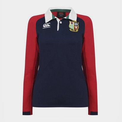 Canterbury British and Irish Lions Long Sleeve Rugby Shirt Ladies