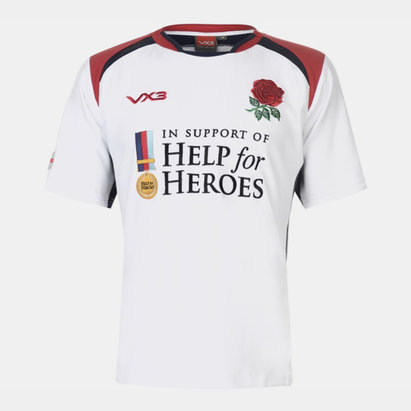 Help for Heroes England Rugby Shirt Mens