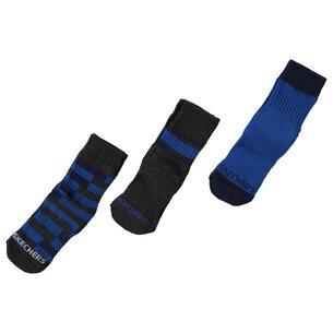 Skechers 3 Pack Crew Socks Junior Boys
