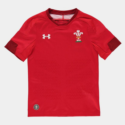 Under Armour Wales Home Rugby Shirt 2017 2018 Junior