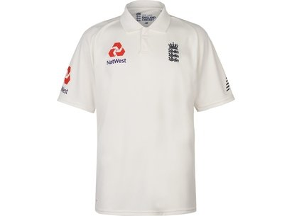 New Balance England Cricket Test Shirt 2018 2019