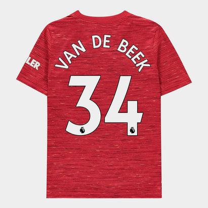 adidas Manchester United Donny Van de Beek Home Shirt 20/21 Kids