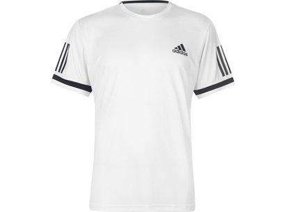 adidas Club 3 Stripes T-Shirt Mens