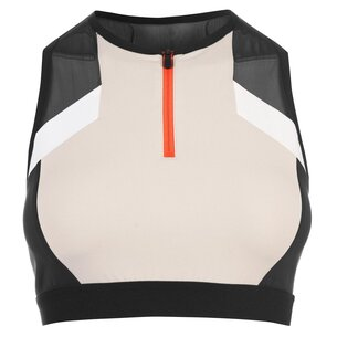 Reebok Colour Block Cropped Sports Bra Ladies