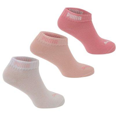 Puma Girls Quarter Socks 3 Pack