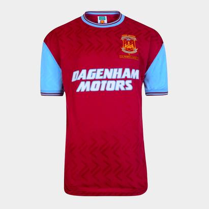 Score Draw West Ham United 94 Home Jersey Mens