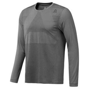 Reebok Therma Vent Long Sleeve T Shirt Mens