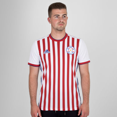 adidas Paraguay 2018 Home S/S Replica Football Shirt