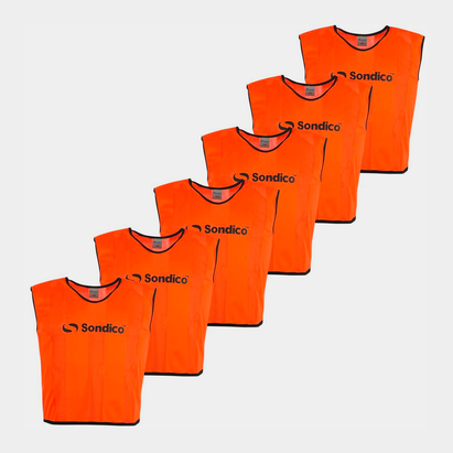 Sondico 6 Pack Mesh Hi Viz Training Bibs