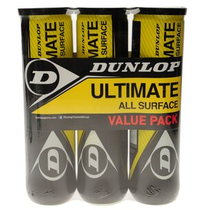 Dunlop Ultimate All Surface Tennis Ball Tri Pack