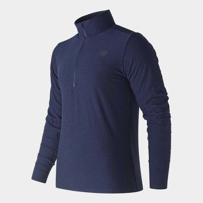 New Balance Heather Zip Top Mens