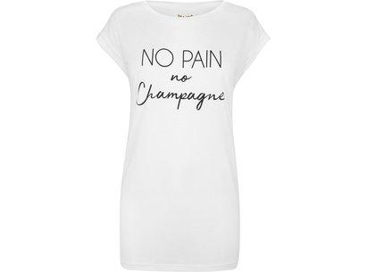 USA Pro No Pain Slogan T-Shirt Ladies