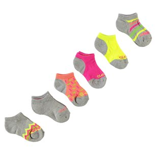 Skechers 6 Pack Socks Girls