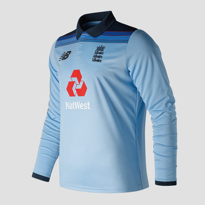 New Balance England Cricket 2019/20 ODI Long Sleeve Replica Shirt