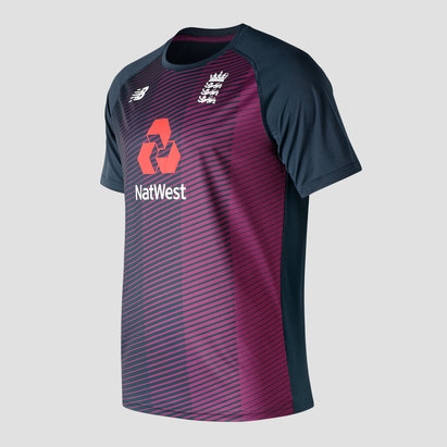 New Balance England Cricket Short Sleeve Training Shirt