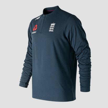 England Cricket Quarter Zip Sweatshirt Mens