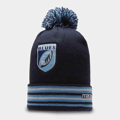 Macron Cardiff Blues 2019/20 Bobble Rugby Beanie