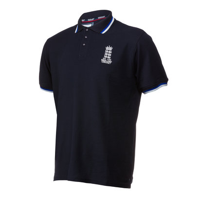 England Cricket Mens Pique Polo Shirt 2018