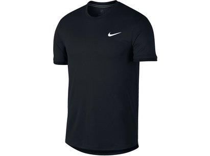 Nike Dri FIT Mens Short Sleeve Tennis Top
