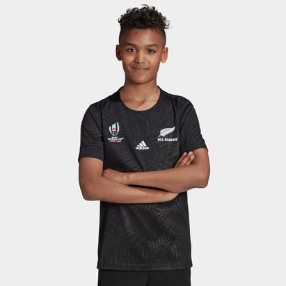 adidas New Zealand All Blacks RWC 2019 Kids Home Rugby Shirt