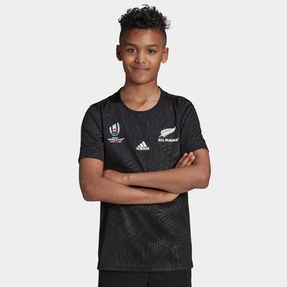 adidas New Zealand All Blacks RWC 2019 Kids Home Shirt