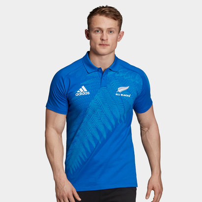 adidas New Zealand All Blacks RWC 2019 Anthem Polo Shirt