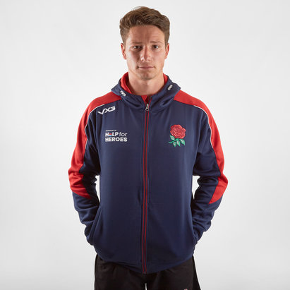 VX3 Help for Heroes England 2019/20 FZ Hooded Rugby Sweat