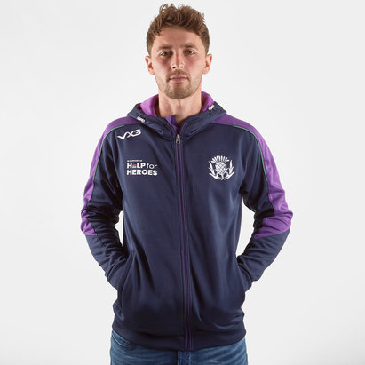 VX3 Help for Heroes Scotland 2019/20 FZ Hooded Rugby Sweat