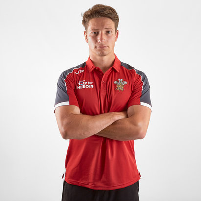 VX3 Help for Heroes Wales 2019/20 Rugby Polo Shirt