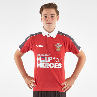 VX3 Help for Heroes Wales 2019/20 Kids Rugby Shirt