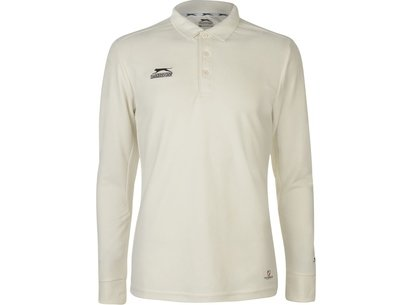 Slazenger Long Sleeve Cricket Shirt Mens