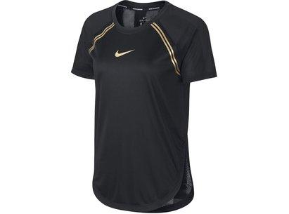 Nike Glam Short Sleeve T Shirt Ladies