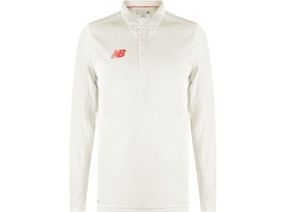 New Balance Player Long Sleeve Polo Shirt Mens