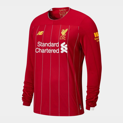 New Balance Liverpool 19/20 Kids L/S Home Football Shirt
