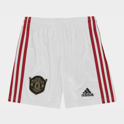 adidas Manchester United 19/20 Kids Home Football Shorts