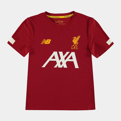 New Balance Liverpool 19/20 Kids Pre Match Football Shirt