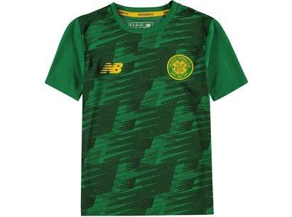 New Balance Junior Boys Celtic Off Pitch Jersey Shirt