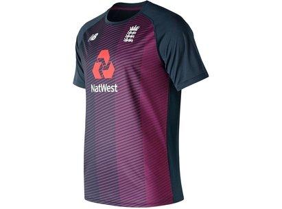 New Balance England Cricket Training T Shirt Mens