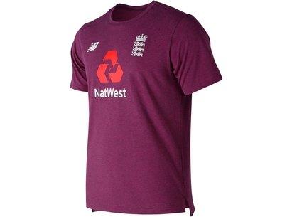 New Balance England Cricket Cotton T Shirt Mens