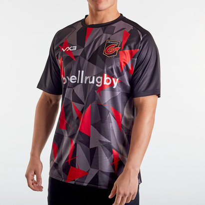 VX3 Dragons 2019/20 Warm Up Poly Rugby Training T-Shirt