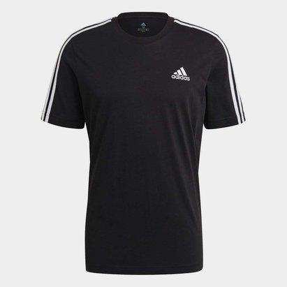 adidas 3 Stripe Essential T Shirt Mens