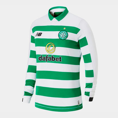 New Balance Celtic Long Sleeve Home Shirt 2019 2020