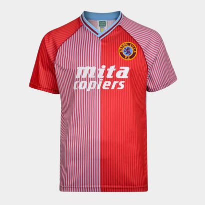 Score Draw Aston Villa 88 Home S/S Retro Football Shirt